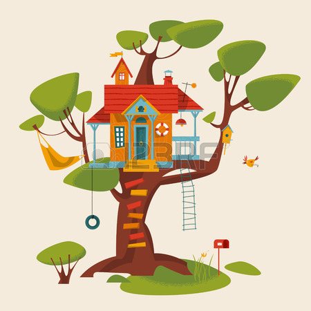 49005388-tree-house-vector-illustration