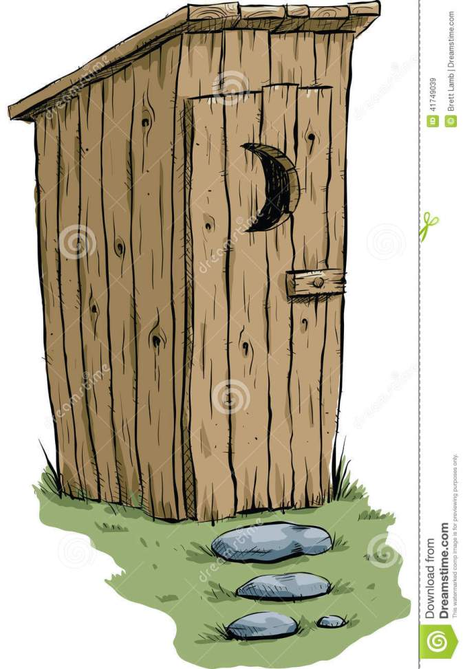 outhouse-retro-cartoon-made-wood-stone-path-41749039